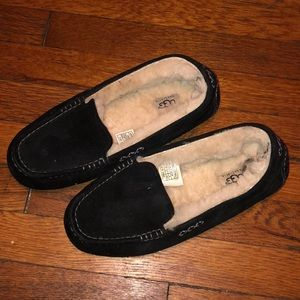 UGG Ansley black suede slippers shoes sz 9 3312
